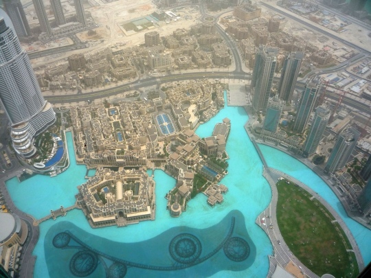 Dubai view from Burj Khalifa