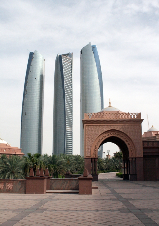 Skyscapers in Abu Dhabi viewed from the Emirates Palace - Photo courtesy of hoomygumb
