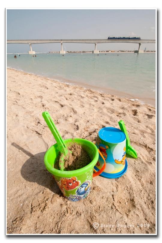 Atlantis Hotel beach on The Palm